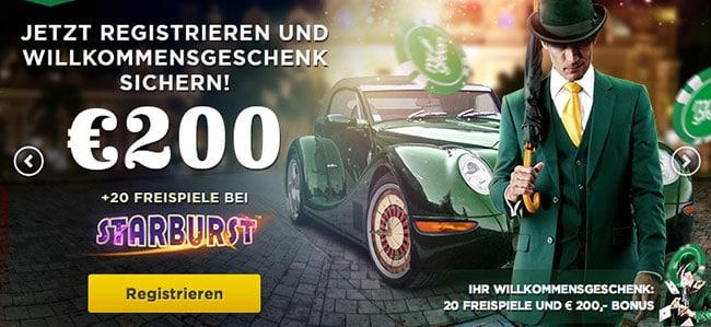 Mr Green Gutscheincode