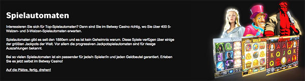 Betway Casino Spiele Software