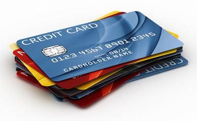 Kreditkarten Stapel