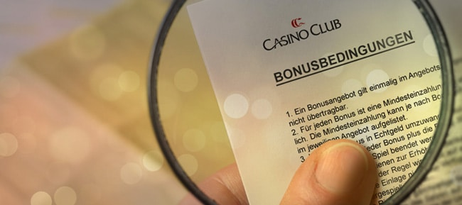 Bonusbedingungen Casino Club