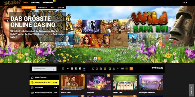 stake7 Homepage