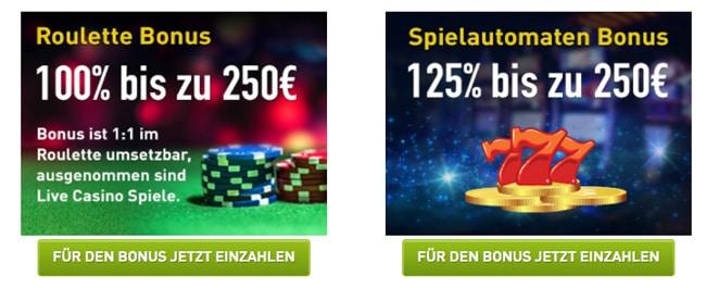 Willkommensbonus Casino Club